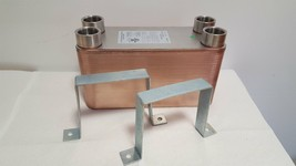 "40 Plate Water to Water Brazed Plate Heat Exchanger 1"" FPT Ports w/ Brac... - $144.93"