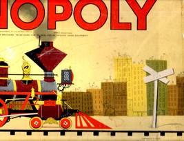 MONOPOLY GAME: Original Box, Game Board, Cards, Money VINTAGE 1957 image 10
