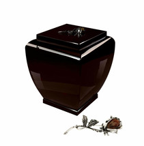 Beautiful solid wood coffin funeral urn ashes adult tribute - $193.86