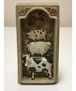 Enesco Jim Shore Garden Artistry 2002 Wall Plaque Animals Cow Sheep Pig ... - $23.99