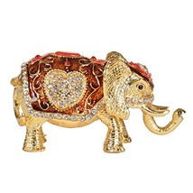 MICG Elephant Treassure Trinket Box Animal Figurine Collectable Wedding ... - ₹1,363.97 INR
