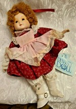 """1983 DYNASTY DOLL COLLECTION 10""""  PORCELAIN Girl In Burgundy & Pink Dress Vicky image 2"""
