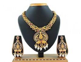 Multi Color Indian Traditional  Wedding Temple Jewelry Matt Finish Neckl... - $28.90