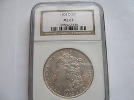 1904-O , Morgan Silver Dollar , NGC , MS 63 - $75.00