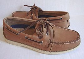 A O SPERRY MEN'S SIZE 2 CROSS SIDER 5M TAN LACE 6 EYE TOP BOAT SHOES EtrwTwaq