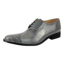LIBERTYZENO Mens Oxford Dress Shoes Croco/Eel Print Toe Brogue Shoes-Henley - $54.99