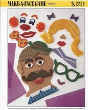 Make a Face Game~Annie's International Plastic Canvas Club Pattern - $2.99