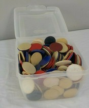 Large Box Lot Vintage To Antique Poker Chips Different Styles - $21.25