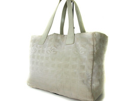 Auth CHANEL Travel line Canvas Leather Pinks Tote bag CT11197L - $159.00