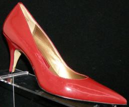Nine West 'Parism' red patent leather pointed toe slip on pump heel 7M 5009 - €27,94 EUR