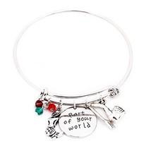 Eliana and Eli Little Mermaid Part of Your World Silver Bangle Bracelet ... - $20.72