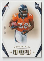 Montee Ball 2013 Panini Prominence Gold Parallel Serial #'d/199 - $2.99