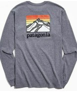 NWT Patagonia Long Sleeve Line Logo Ridge Logo Shirt in Gray sz S  - $59.76