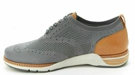 NEW J Sport By Jambu Mens Gray Lincoln Oxford Lace Up Wingtip Shoes image 3