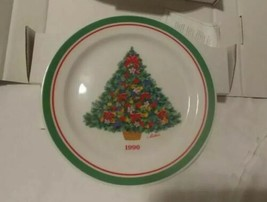 "HALLMARK COLL. PLATE ""TREES OF CHRISTMAS"" 1990 ed. Festive Christmas. C72 - $11.64"