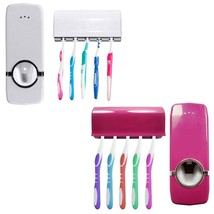 Automatic Toothpaste Dispenser 5 Toothbrush Holder - $17.91