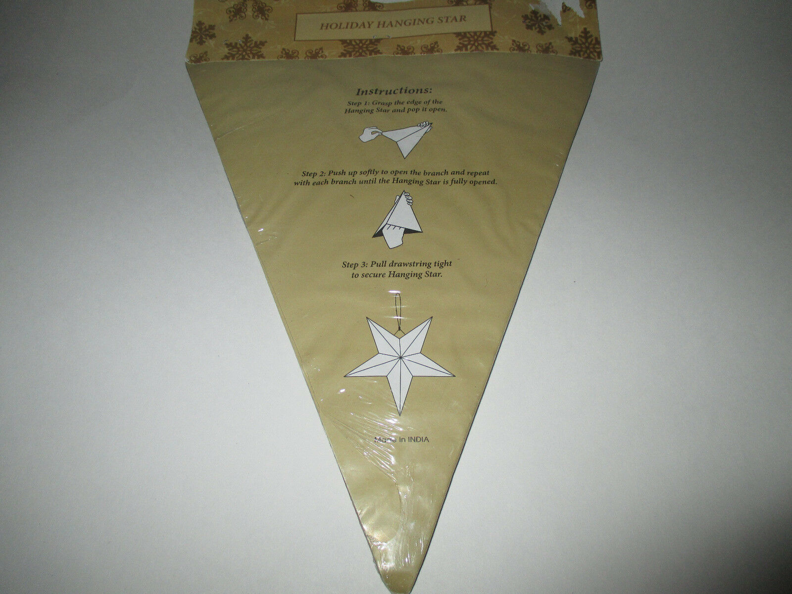 New Holiday Hanging Star - Gold