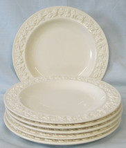 Wedgwood Cream on Cream Embossed Grape Bread or Dessert Plate Set of 6 - $36.52
