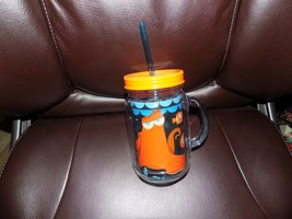 Disney Store Finding Dory Nemo Hank Jelly Jar Cup  w/ Straw Large 16oz NEW - $19.44