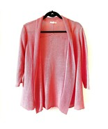 Eileen Fisher Open Front Cardigan Sweater Hemp Knit Size Medium Pink - $23.16