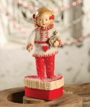 """Bethany Lowe by Maggie's Memories Valentine """"Girl on Heart Container""""  - $49.99"""