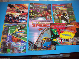 Lot Of (6) ORIGINAL NOS VIDEO ARCADE GAME FLYERS DIRT DEVILS BLITZ 99 se... - $9.79