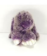 Genuine Mink Fur Kopenhagen Pendant Bag Car Tag Key Chain Charm Purple R... - $34.64