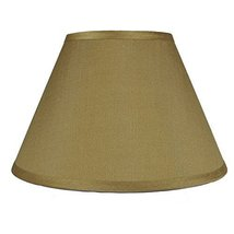 Urbanest Coolie Hardback Lampshade, Faux Silk, 7-inch by 14-inch by -9inch, Gold image 3