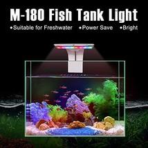 Senzeal M-180 Aquarium Fish Tank Light US 5W 16 LED Aquarium Planted (Wh... - $16.32