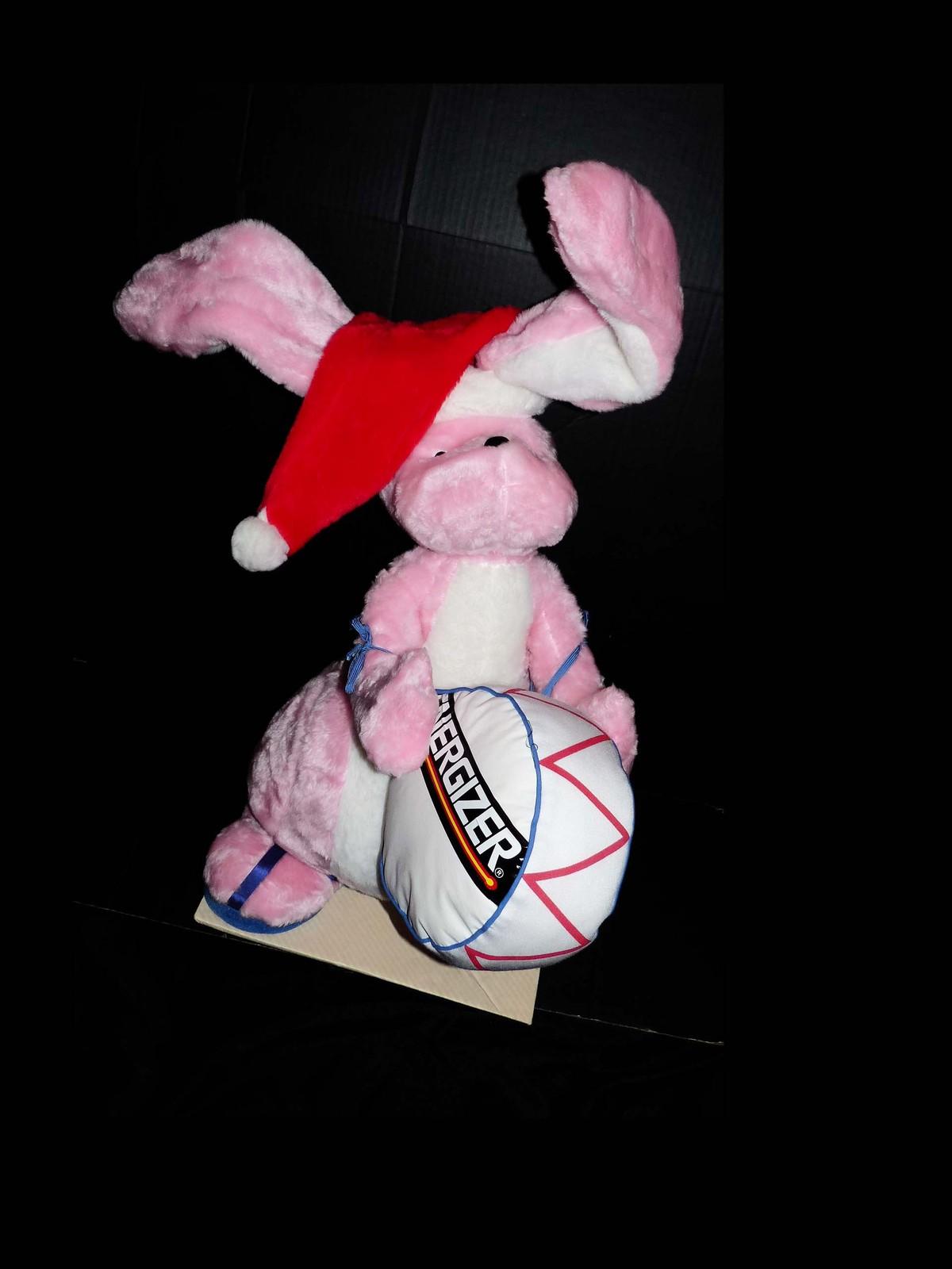 "Huge Store Display - Vintage 26"" Energizer Bunny - Santa bunny hat - big plush"
