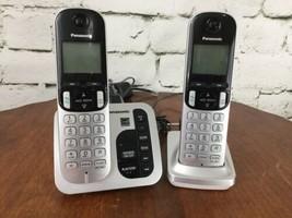 Panasonic 2 Handset Cordless Phone System with answering machine KX-TGC220 *USED image 2