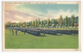 Annapolis MD US Naval Academy Dress Parade Midshipmen Vintage Postcard - $6.95