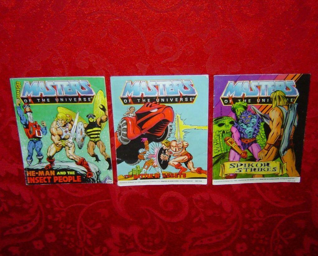 Masters of the Universe 3 Mini Comics lot MOTU POP vintage 1983 1984