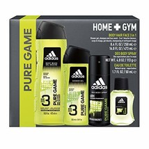 Adidas, Pure Game, Men's Home and Gym Gift Set, Total Retail Value $32.00 - $67.00