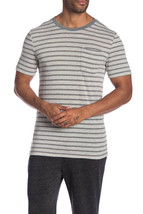 Alternative Stripe Pocket Tee, Eco Gray Riviera Stripe, Size M - $15.83
