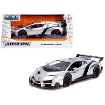 Lamborghini Veneno Candy Silver 1/24 Diecast Model Car by Jada 99706 - $35.93
