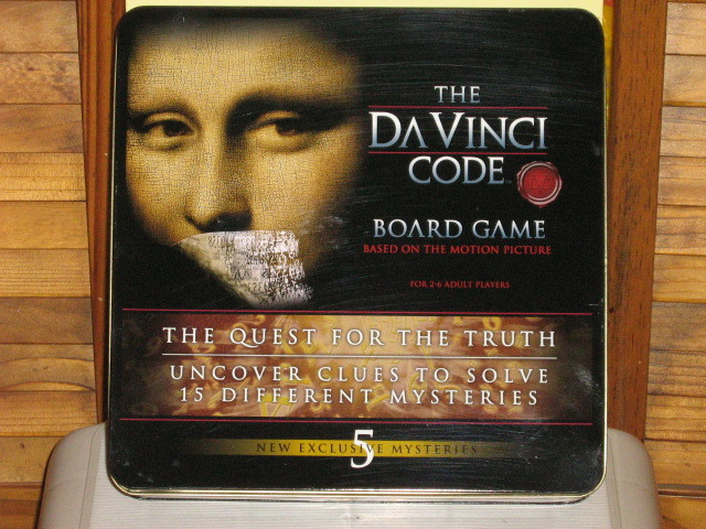 The DaVinci Code Board Game, Unused in Tin Box, Based on Motion Picture - 2006