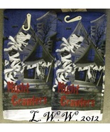 2 Halloween Mummy Night Crawlers Kitchen Dish Towels 14 x 24 inches  - $5.99