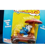 EXTREMELY RARE!! New MOC Schleich Peyo Smurf Log with Mushroom Car The S... - $49.49