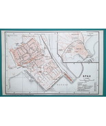 TUNISIA Sfax City Town Plan - 1911 BAEDEKER MAP - $12.60