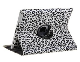 360° Rotatable Leopard Skin Pattern PU Leather Protective Case for The new iP - $24.89