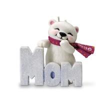 Mom - 2016 Hallmark Ornament - Family - Polar Bear - Snow - Glitter - Re... - $15.73