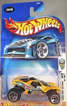 2003 Hot Wheels #048 First Editions 36/42 DA' KAR Yellow w/ORUT5 Spoke Wheels - $6.15