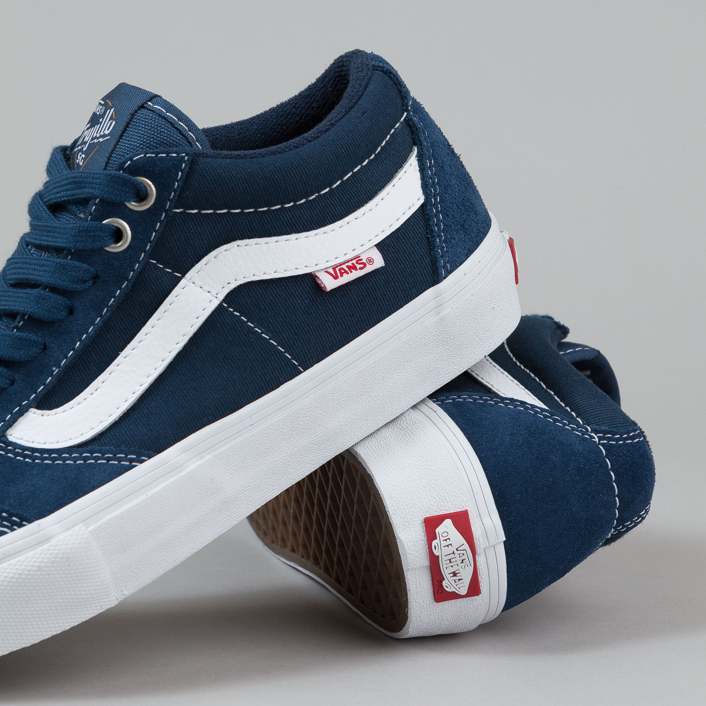Vans TNT SG WASHED CANVAS NAVY Trujillo Men's Classic Skate Shoes Size sz 7