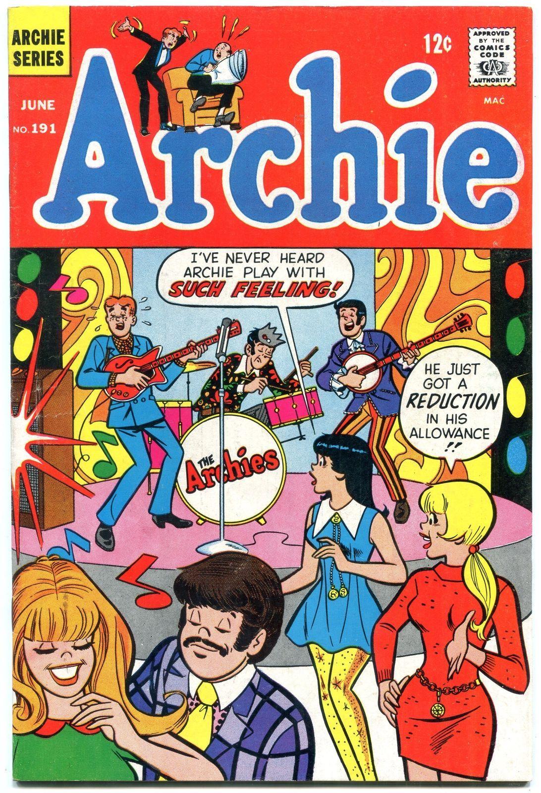 Archie Comics #191 1969- Silver Age-Betty & Veronica- VF - $73.14