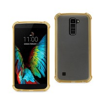 REIKO LG K10 MIRROR EFFECT CASE WITH AIR CUSHION PROTECTION IN GOLD - $6.90