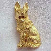 Vintage CROWN TRIFARI German Shepherd Dog Textu... - $35.00