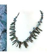 Peacock Biwa & Keishi Pearl Necklace - $75.00
