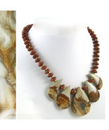 Picture Jasper & Coppery Goldstone Necklace - $35.00