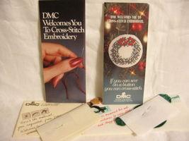 2 DMC Embroidery Floss Sampler Kits X-Mas Wreath/Bear - $4.89